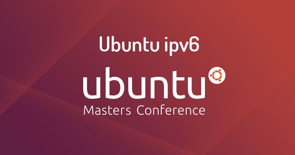 Configure an IPv6 Address in Ubuntu server