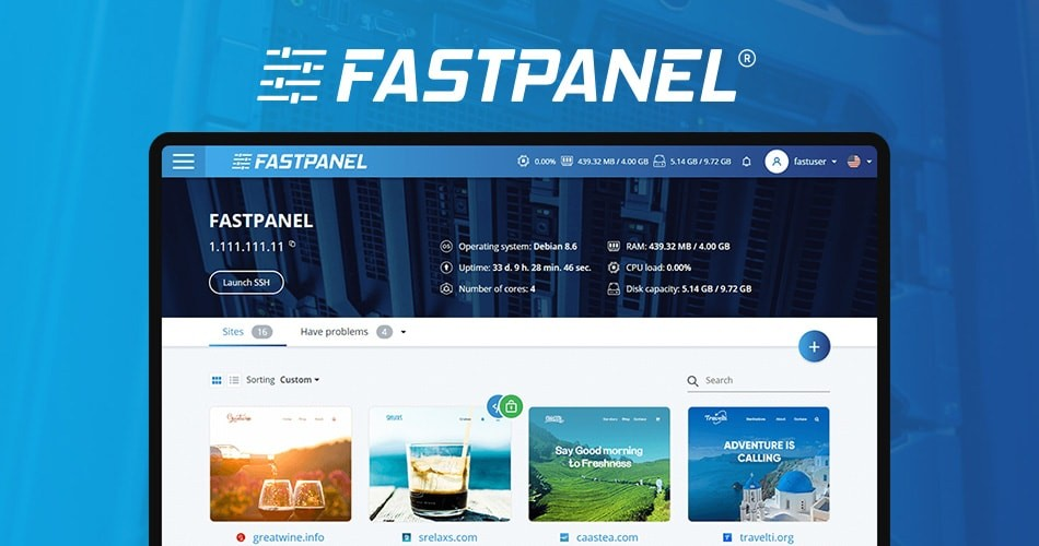 Install FASTPANEL® on CentOS 7 VPS or Dedicated
