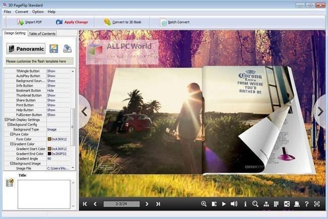 3D PageFlip Standard 2 installer Free Download
