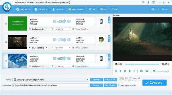 4Videosoft Video Converter Ultimate 7.0 for Windows