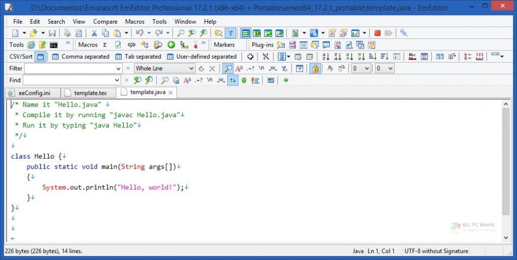 EmuraSoft EmEditor Professional 20.5