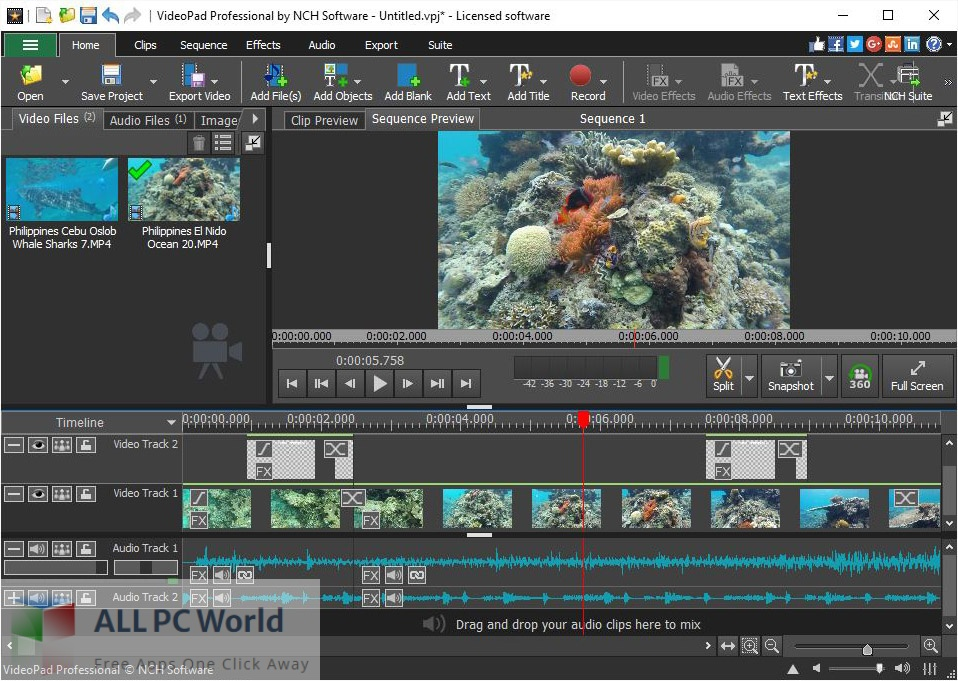 NCH VideoPad Pro 10 for Mac Free Download