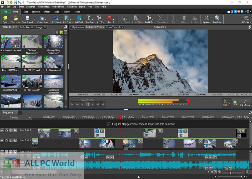 NCH VideoPad Pro 10 for macOS Free Download