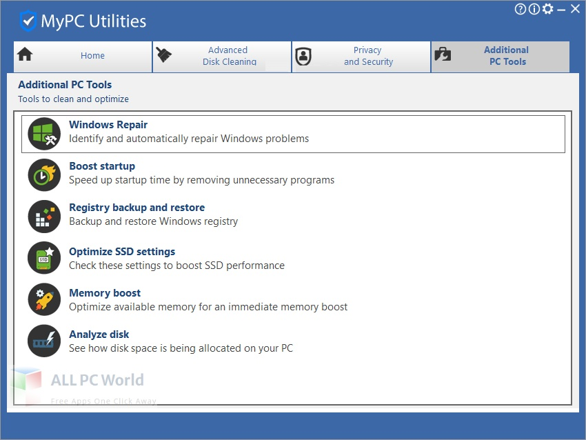 MyPC Utilities for Free Download