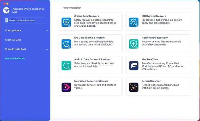 Aiseesoft iPhone Cleaner for Mac Free Download