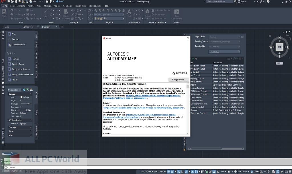 Autodesk AutoCAD MEP 2022 Free Download