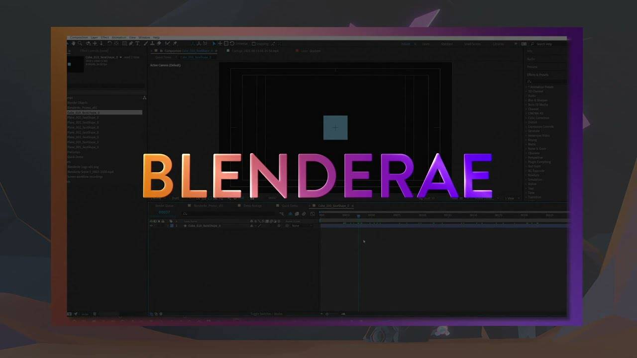 1631026894 983 AEScripts BlenderAe v100 for After Effects Full Version Free Download